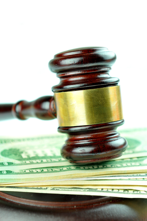cash slips: Gavel and American dolalrs