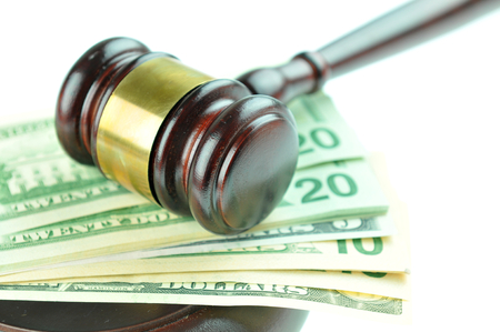 solicitors: Gavel and US dollars