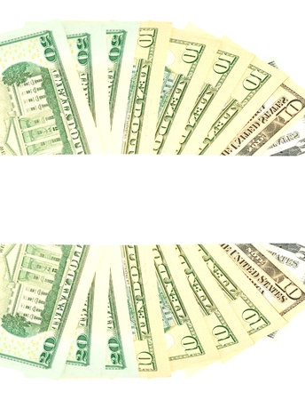 refunds: Abstract US dollar banner with copyspace