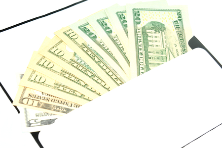 refunds: US dollars in an envelope