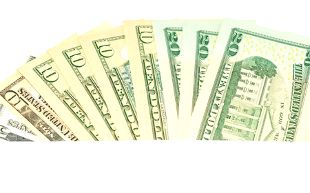 refunds: US dollars abstract horizontal banner