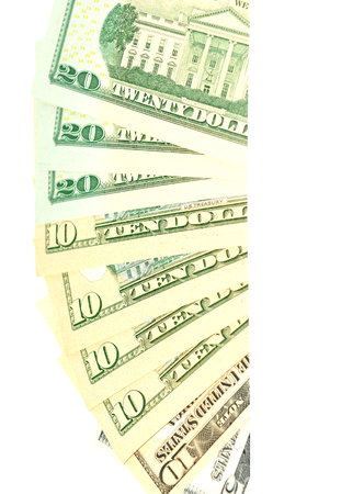 refunds: US dollars abstract vertical banner