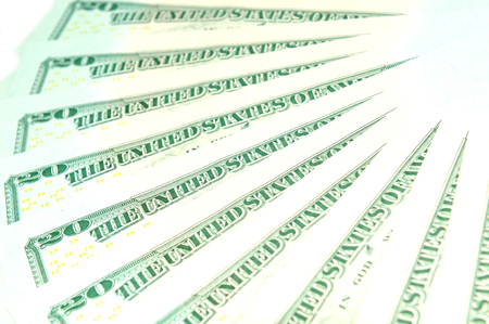 refunds: US dollar background Stock Photo