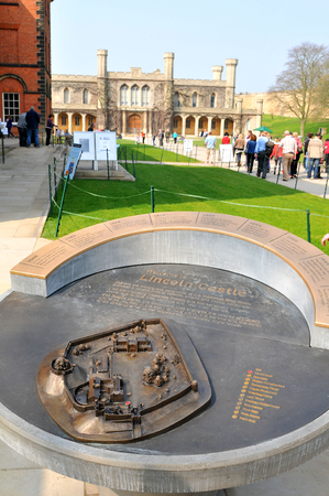 11th century: Lincoln, UK - April 9, 2015: Lincoln Castle is a major castle constructed in East Midlands, England during the late 11th century Editorial