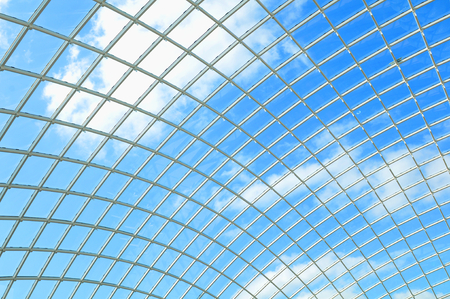 Abstract architectural detail modern roof structure Stock Photo