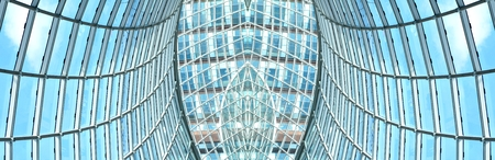 modern building: Abstract architectural detail modern roof structure Stock Photo