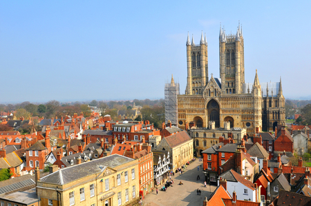 Lincoln Cathedral is a major landmark and the third largest cathedral in England