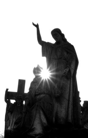 cristianismo: Arte funerario Foto de archivo