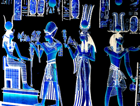 hieroglyphs: Egyptian background with Pharaoh