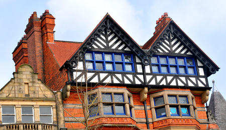 old architecture: Old architecture in Nottingham, England