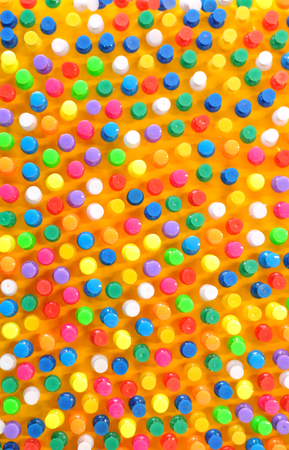 push in pins: Colorful push pins background Stock Photo