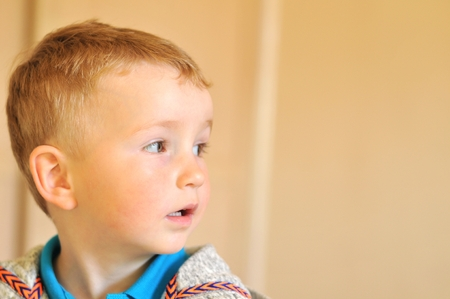Portrait of an autist child