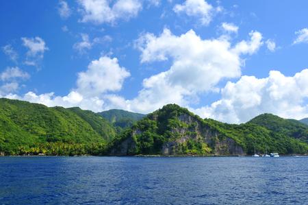 pythons: Volcano island in Saint Lucia Stock Photo