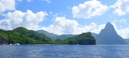 pythons: Pitons in Saint Lucia