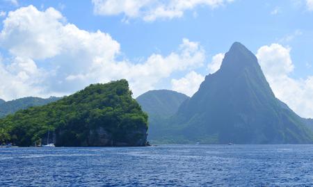 Volcano island in Soufriere, Saint Lucia Stock Photo