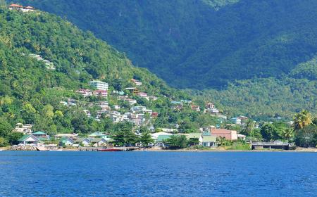 dominican republic: Coastline in the Carribean Sea Stock Photo