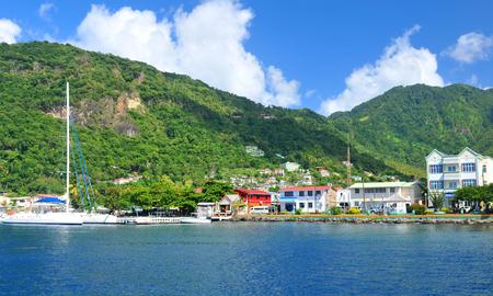 saint lucia: Soufriere, Saint Lucia Stock Photo