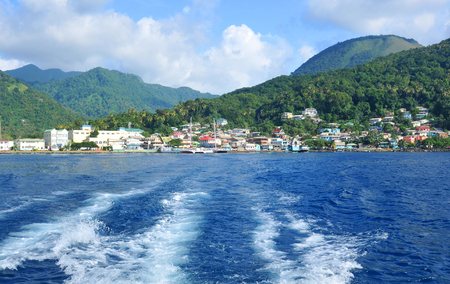 lucia: Soufriere panorama in Saint Lucia