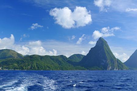 saint lucia: Saint Lucia coastline