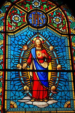 sacre coeur: Vitrail Jésus-Christ Éditoriale