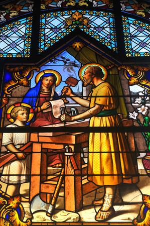 sacra famiglia: scena Bibbia raffigurante Sacra Famiglia - Giuseppe, Maria e il bambino Gesù