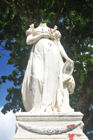beheaded: Beheaded statue of Empress Josephine in Fort-de-France, Martinique