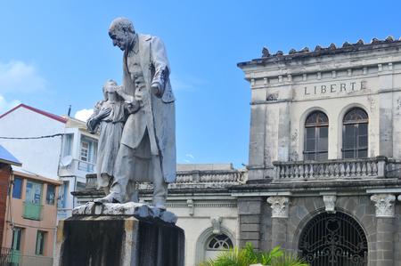 martinique: Statue of Victor Schoelcher in Fort de France, Martinique