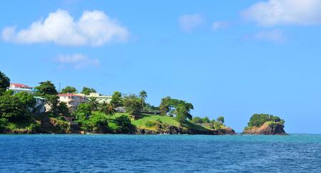 saint lucia: Caribbean sea Stock Photo