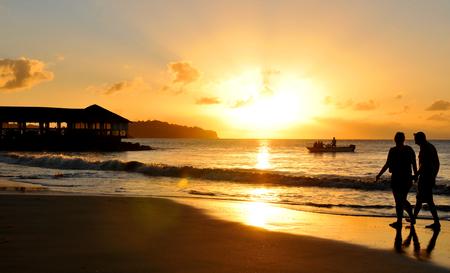 saint lucia: Romance at sunset