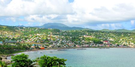 saint lucia: Tropical island in Saint Lucia, Caribbean Stock Photo