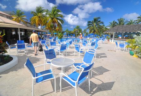 saint lucia: SAINT LUCIA, CARIBBEAN - DECEMBER 10, 2014:  Tourists relax in exotic resort in Saint Lucia, Caribbean