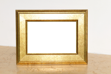 golden frame: Golden frame with copy space Stock Photo