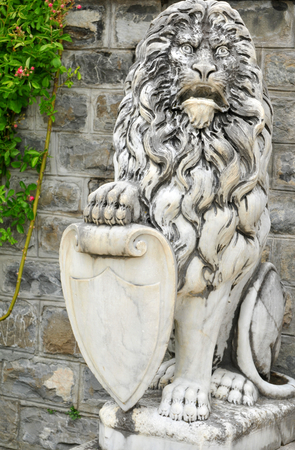 architectural  detail: Architectural detail of lion statue