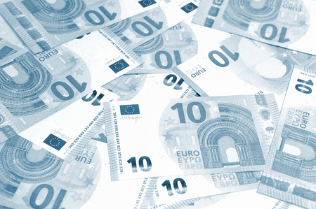 budgets: Euro banknotes suitable as background
