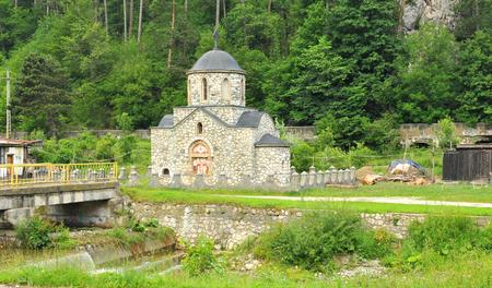 bran: Old church in Bran, Brasov, Transylvania, Romania Stock Photo