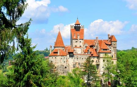 castillo medieval: Hermoso castillo de Bran, Brasov, Transilvania, Rumanía