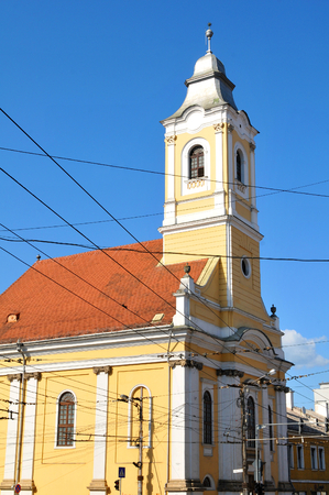 the old church: Old church in Cluj Napoca, Romania Stock Photo