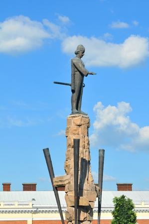 napoca: Avram Iancu statue in Cluj Napoca, Romania