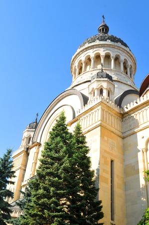 kolozsvar: Architecture detail of orthodox cathedral in Cluj Napoca, Romania Stock Photo