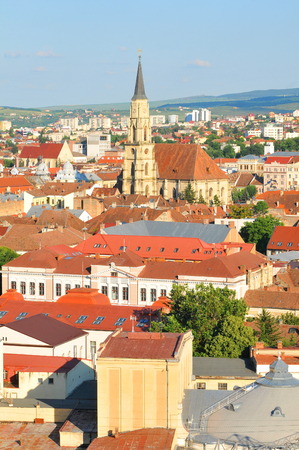 cluj: Aerial view of Cluj Napoca, Romania