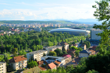napoca: Aerial view of Cluj Napoca, Romania