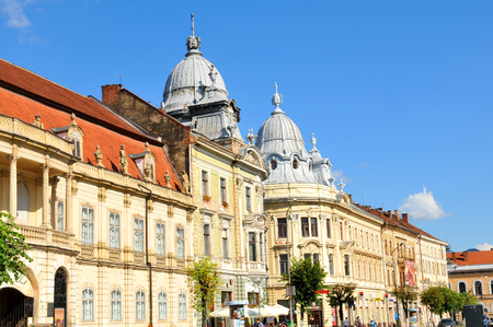 kolozsvar: Cluj Napoca , Romania - July 2, 2015: Street view of the city centre of Cluj Napoca, a major city in the heart of Transylvania, Romania Editorial