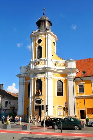 kolozsvar: Cluj Napoca , Romania - July 2, 2015:  Old church in Cluj Napoca, Romania