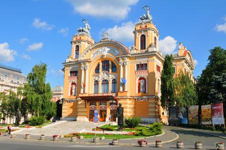 cluj: Cluj Napoca, Romania - July 2, 2015: Theatre building in Cluj Napoca, a major city in the heart of Transylvania, Romania Editorial