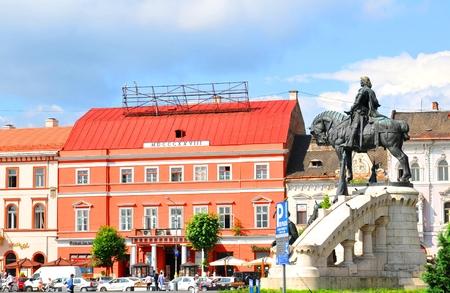napoca: Cluj Napoca, Romania - July 2, 2015: Architectural panorama of Cluj Napoca, Romania Editorial