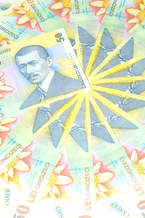 lei: Romanian currency lei background