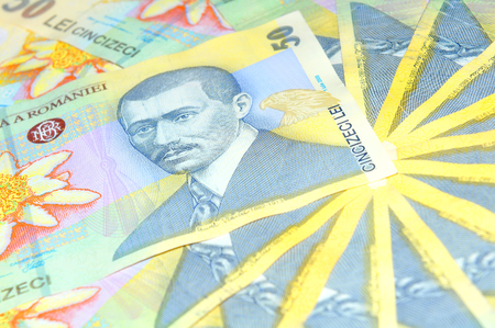 leu: Romanian currency lei background