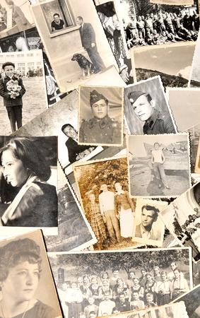 Oude familiefoto's