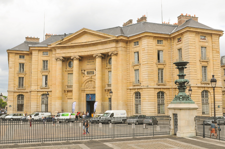 faculty: Paris, France - July 7, 2015: View of the Law Faculty of Paris University Editorial