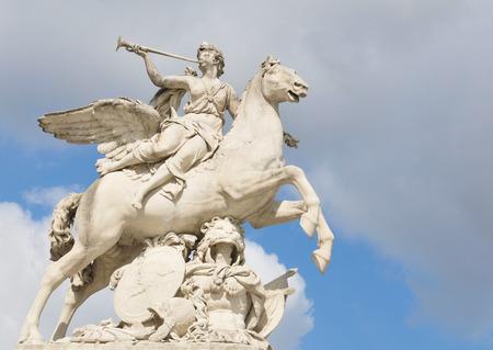 The statue of Pegasus in Paris, France